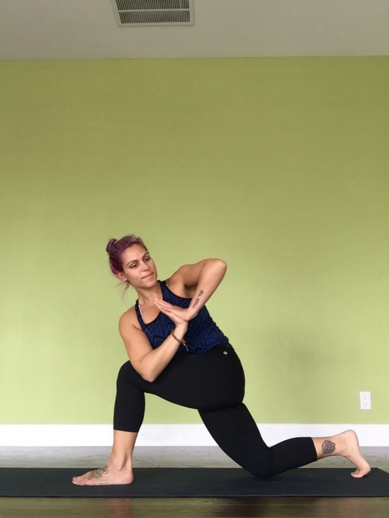 Arielle Low Lunge Twist Yoga for Runners