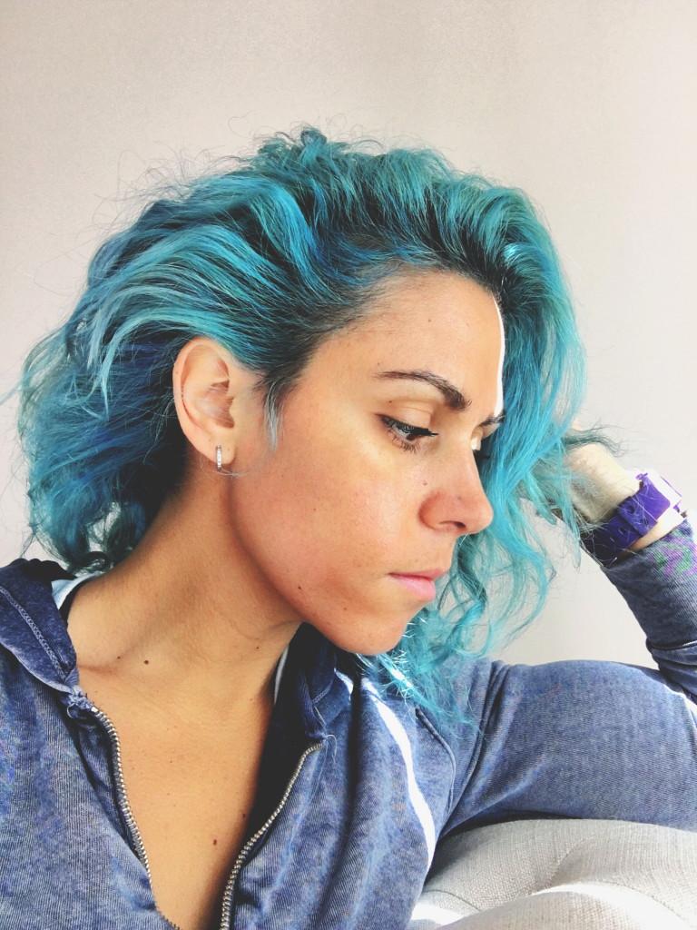 arielle blue hair